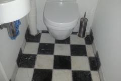 Zwart witte tegels keuken - Zwart wit toilet ...